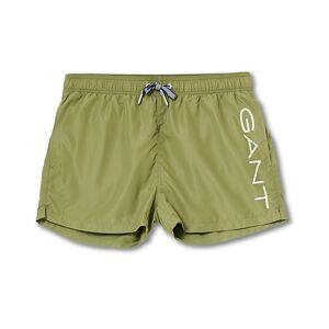 Gant Lightweight Logo Swimshorts Four Leaf Green