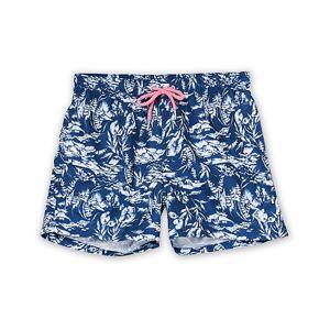GANT Riviera View Printed Swimshorts Insignia Blue