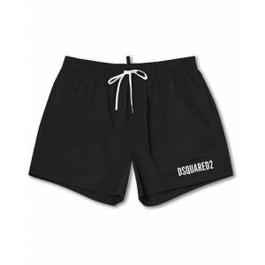 Dsquared2 Icon Boxer Mid Swimshorts Black/Silver
