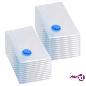vidaXL Vaatteiden tyhjiöpussit matkalaukkuun 80x60 cm 20 kpl