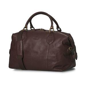 Barbour Leather Medium Travel Explorer Brown