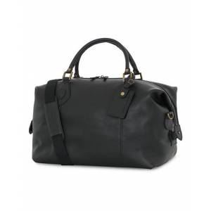 Barbour Leather Medium Travel Explorer Black