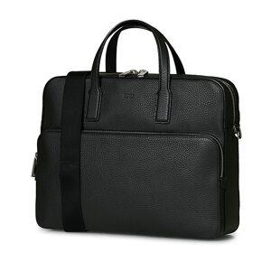 BOSS Crosstown Computer Leather Bag Black