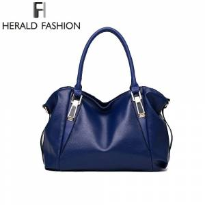 8df4670f65 Herald Fashion Luxury Handbags Women Shoulder Bag Casual Large Tote Bags  Hobo Soft Leather Ladies
