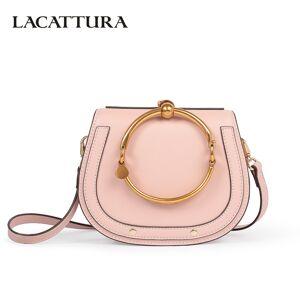 41cd0ac2a6 LACATTURA New Handbag Women High Quality Leather Shoulder Bag Small  Wristlets Saddle Messenger Bags Lady Clutch