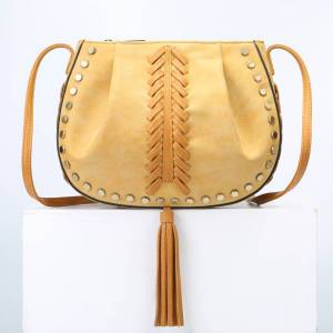 2a3471477f7a Newchic National Style Tassel Rivet Weave Bucket Bags Three Layers Crossbody  Bags Shoulder Bags For Women