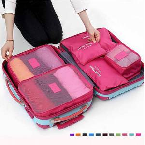 Newchic 6Pcs Waterproof Cube Travel Storage Bags Clothes Pouch Nylon  Luggage Organizer Travel Bag 47a094aa91f92