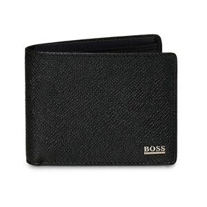 Boss Signature 6cc Credit Wallet Black Leather