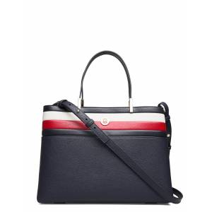 Tommy Hilfiger Th Core Satchel Corp Bags Top Handle Bags Blå Tommy Hilfiger