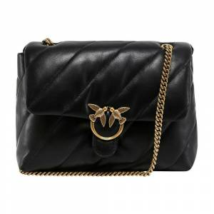 pinko Love Crossbody Bag in Quilted Leather