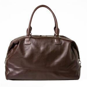 Barber Shop Cesar Cut Duffle Bag Dark Brown Leather