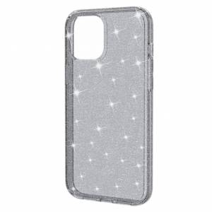 MOBILCOVERS.DK iPhone 12 / 12 Pro Hybrid Plastik Cover m. Glimmer - Grå