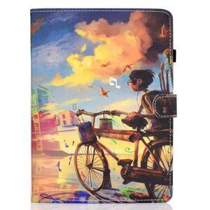 TABLETCOVERS.DK iPad Air (2020) Cover m. Ståfunktion, Kortholder & Apple Pencil Holder - Dreng Med Cykel