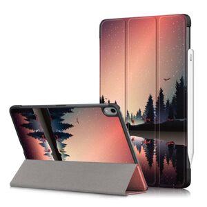 TABLETCOVERS.DK iPad Air (2020) Læder Cover m. Apple Pencil Holder - Skov & Sø
