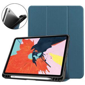 TABLETCOVERS.DK iPad Air (2020) Litchi Tri-Fold Læder Cover m. Apple Pencil Holder - Grøn
