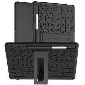 TABLETCOVERS.DK Samsung Galaxy Tab S7+ (Plus) Dækspor Cover m. Pen Holder & Kickstand - Sort
