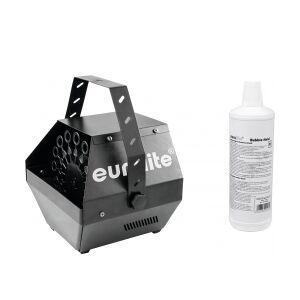 EuroLite Set B-100 Bubble machine black DMX + bubble fluid 1l maskine boble sæt