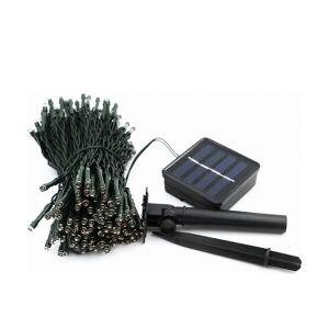 Udendørs solcelle LED lyskæde 100 Varm Hvide LEDs (12m) TILBUD NU lysdioder er