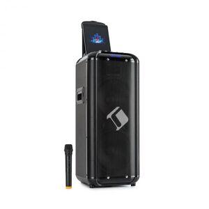 "Auna Moving 2100 PA-järjestelmä 2x10"" woofer 100/300 W UHF-mikrofoni USB SD BT AUX kuljetettava"