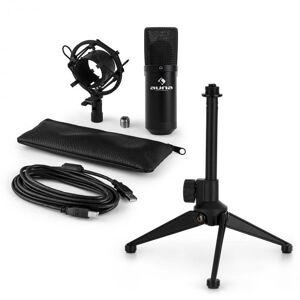 Auna MIC-900B USB mikrofonisetti V1   musta kondensaattorimikrofoni   pöytäpidike
