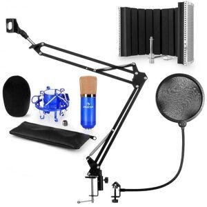 Auna CM001BG mikrofonisetti V5 kondensaattormikrofoni jalusta pop-suoja suojus