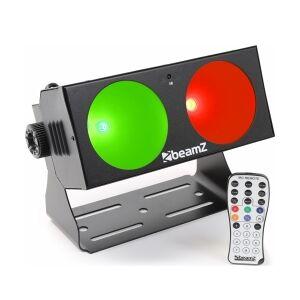 BeamZ LUCID 1.2 - 2x 10W COB LEDs DMX - Flot til fargealternativer veggbelysning