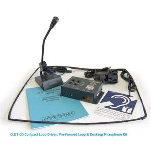 Ampetronic CLD1-CD Teleslynge Kit 2,4A Svanehalsmikrofon Skranke