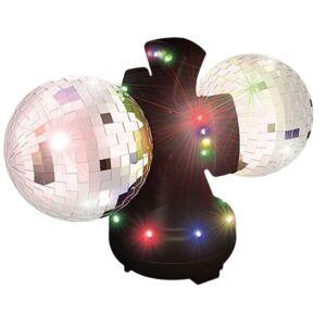 Andet Dobbelt Diskolampe m/farvet lys