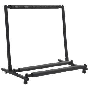 vidaXL Gitarrstativ svart stål