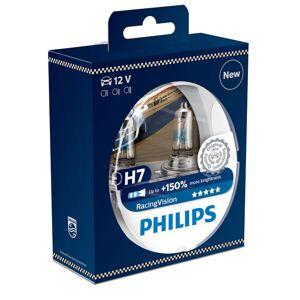 PHILIPS Bilpære H7 RACING VISION 150%...
