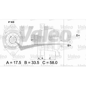 VALEO Generator  Opel -  Astra,  Vectra,  Corsa, Combo