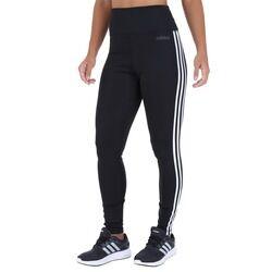 adidas Calça Legging adidas D2M HR 3S - Feminina - PRETO/BRANCO