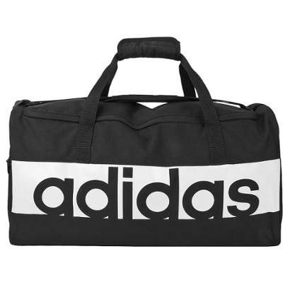 Mala Adidas Essential Linear - Unissex-Preto+Branco