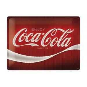 ART Retro metallijuliste Coca-Cola - Logo Red Lights 30x40 cm
