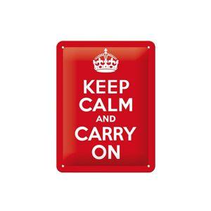 ART Retro metallijuliste Keep calm and carry on 15x20 cm