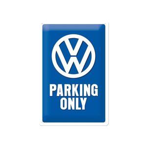 ART Retro metallijuliste VW Parking only 20x30 cm