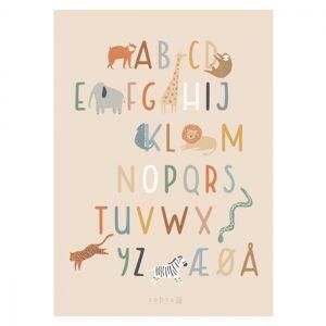 Sebra Plakat alphabet A-Å  Wildlife