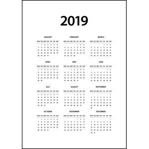 Bildverkstad Calender 2019 Vertical - White