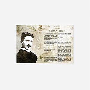 // TPCK // The Wisdom of Nikola Tesla affisch foto konsttryck gåva motivation storlek: 38 x 25 cm (15 x 10 tum)