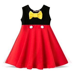 Zjxxm Fancy nyår baby flicka karneval tomte klänning för flickor sommar mus jul barnkläder fest tyll barnkostym – 5-2_2T