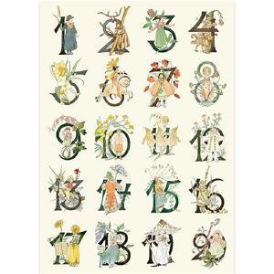 Hjelms Poster Blomster Siffror