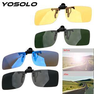 74bc96cbff6 YOSOLO Car Driver Goggles Anti-UVA UVB Polarized Sun Glasses Driving Night  Vision Lens Clip