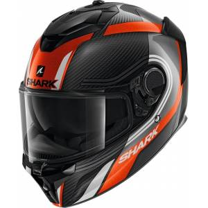 Shark Spartan GT Carbon Tracker Hjelm 2XL Svart Hvit Oransje