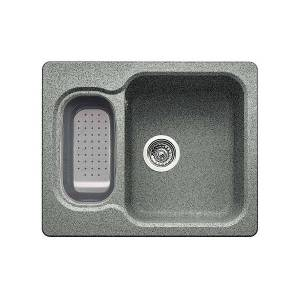 Blanco Nova 6, Vendbar 616x500 Mm, Silgranitfarge Alu Metallic