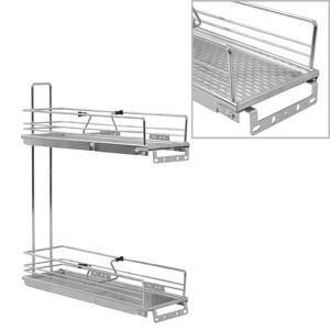 vidaXL Uttrekkbare kurvskuffer 2 etasjer 47x15x54,5 cm