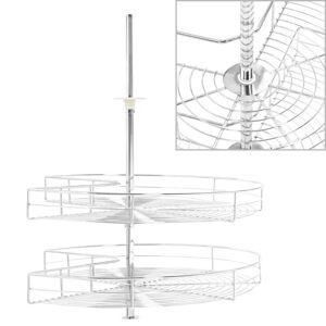 vidaXL Kurvskuffer 2 etasjer sølv 270 grader 71x71x80 cm