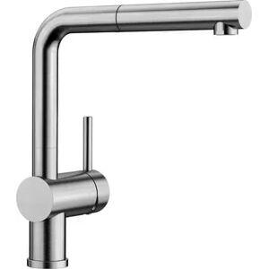 Blanco Linus-S Köksblandare U/Diskmaskinsavstängning m/Svängpip och Handdusch Borstat Rostfritt Stål