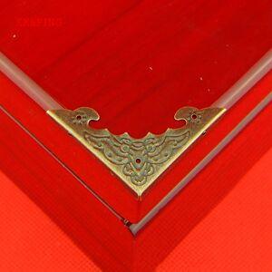 Antique KK&FING 20PCS Decorative Antique Bronze Corner Bracket Jewelry Wine Gift Box Wooden Case Box Edge Corner Protector Guard 40mm