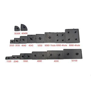 CNC 3D Printer Parts Plastic End Cap Cover Plate black for EU Aluminum Profile 2020 2040 3030 3060 4040 4080 4545 nylon Endcap