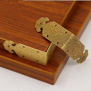 Antique 10pcs Antique corner protector metal right angle Corners Bracket for Wood Case Feet Leg Edge Cover Furniture Hardware